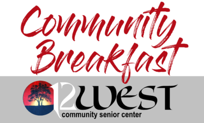 12 West Community Senior Center: Community Breakfast Logo