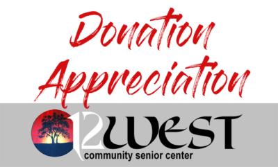12 West Community Senior Center: Donation Appreciate Badge