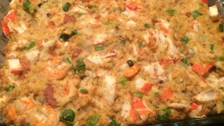Rice Lake Senior Center - Recipe - Savannah Seafood Stuffing